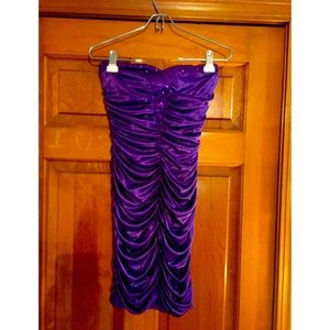Purple sequin mini dress